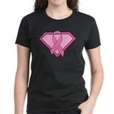 Superhero Shield Pink Ribbon Tee