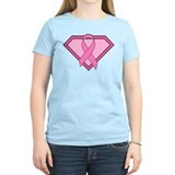 Superhero Shield Pink Ribbon T-Shirt