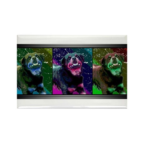 Rottweiler - Pop Art Rectangle Magnet (100 pack)