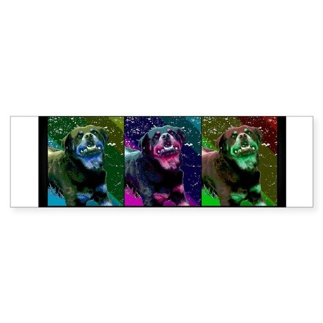 Rottweiler - Pop Art Bumper Sticker