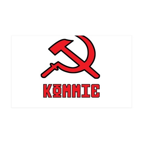Kommie Hammer & Sickle 35x21 Wall Decal