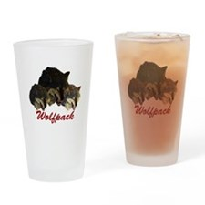 Wolfpack Front Drinking Glass