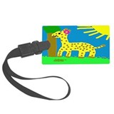 HI54ECO Giselle Giraffe Girl Large Luggage Tag
