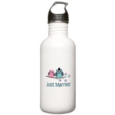 Just Married Birds Water Bottle