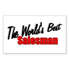 """The World's Best Salesman"" Rectangle Decal"