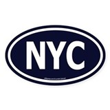 New York Euro Oval Decal