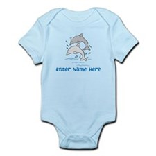 Personalized Dolphins Infant Bodysuit