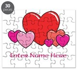 Personalized Hearts Puzzle