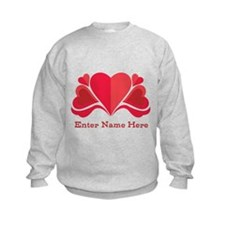 Personalized Hearts Kids Sweatshirt