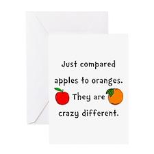 Apples Oranges Greeting Card