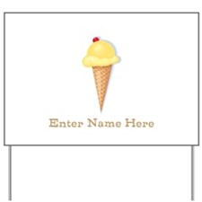 Personalized Ice Cream Cone Yard Sign