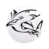 "Tribal Shark 3.5"" Button"