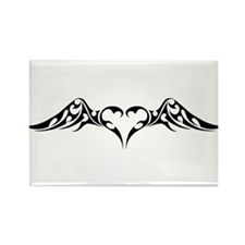 Tribal Heart & Wings Rectangle Magnet