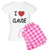 I heart CLAUDE pajamas
