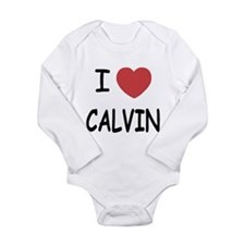 I heart CALVIN Long Sleeve Infant Bodysuit