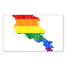Armenia Rainbow Pride Flag And Map Decal
