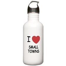 I heart small towns Water Bottle