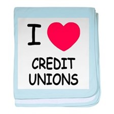 I heart credit unions baby blanket
