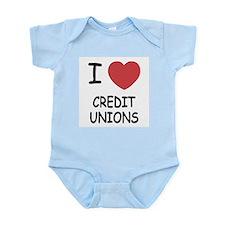 I heart credit unions Infant Bodysuit