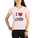 I heart liver Performance Dry T-Shirt