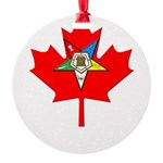 OES Canadian Maple Leaf Round Ornament