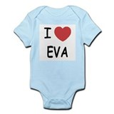 I heart EVA Infant Bodysuit