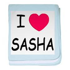I heart SASHA baby blanket
