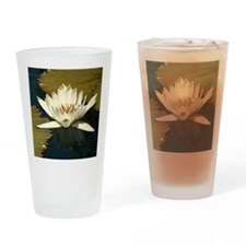 White Water Lily Drinking Glass