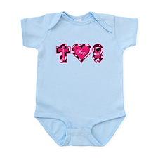 Pink Zebra Faith Hope Cure Infant Bodysuit