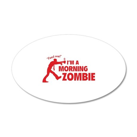 Morning Zombie 38.5 x 24.5 Oval Wall Peel