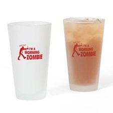 Morning Zombie Drinking Glass
