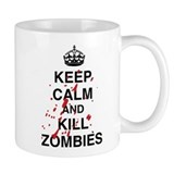 Keep Calm And Kill Zombies Small Mugs