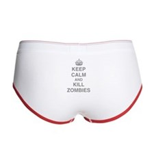 Keep Calm And Kill Zombies Women's Boy Brief