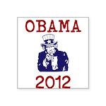 Obama 2012 Square Sticker 3