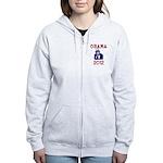 Obama 2012 Women's Zip Hoodie