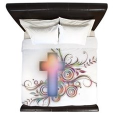 Colorful Cross King Duvet