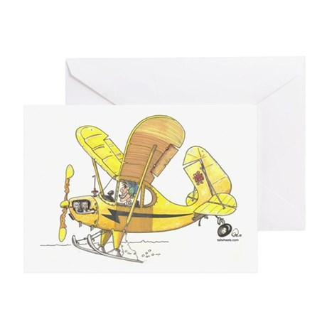 Cub Ski-Plane Greeting Card