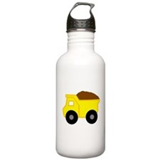 Yellow Dump Truck Water Bottle
