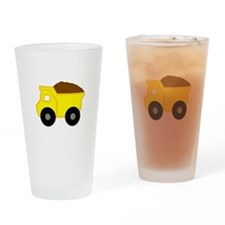 Yellow Dump Truck Small Drinking Glass
