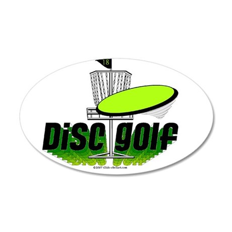 dISC gOLF2 35x21 Oval Wall Decal