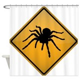 Tarantula Warning Sign Shower Curtain
