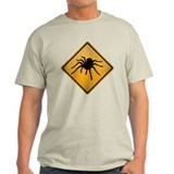 Tarantula Warning Sign T-Shirt