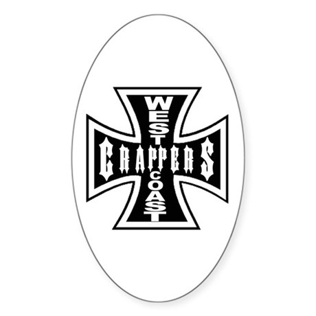 West Coast CRAPPERS Oval Sticker