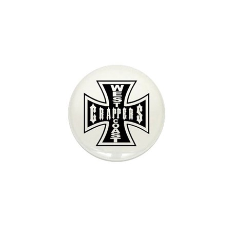 West Coast CRAPPERS Mini Button (100 pack)