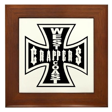 West Coast CRAPPERS Framed Tile