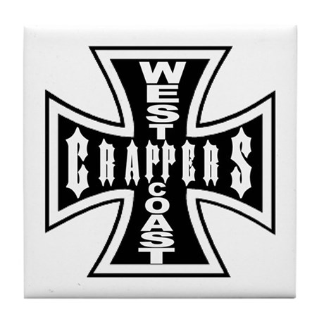 West Coast CRAPPERS Tile Coaster
