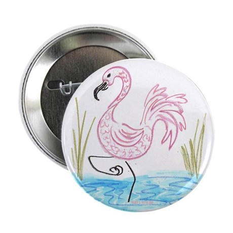 "Pink Flamingo 13 2.25"" Button (10 pack)"