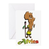 Africa Cartoon Greeting Cards (Pk of 10)