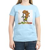 Africa Cartoon Women's Pink T-Shirt