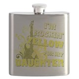 Im Rockin Yellow for my Daughter.png Flask